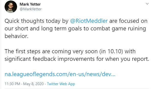 Riot sẽ sớm đưa tính năng tố cáo lũ phá game ngay từ lúc chọn tướng vào LMHT - Ảnh 2.