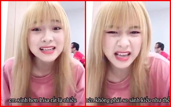 Hot Tiktoker Việt 3,4 triệu follow gây ngỡ ngàng khi khẳng định mình xinh hơn Lisa BLACKPINK - Ảnh 2.