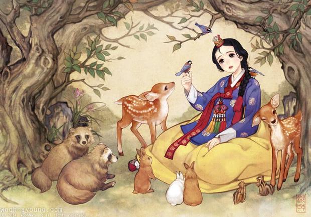 Loạt ảnh đẹp hết nấc khi các nhân vật trong phim Disney khoác lên mình những bộ trang phục truyền thống của Hàn Quốc