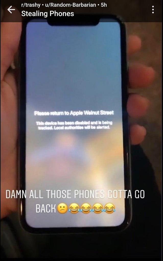 Những kẻ lợi dụng biểu tình tại Mỹ cướp iPhone ngớ người khi máy bị khóa cứng, không thể sử dụng được - Ảnh 3.