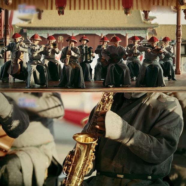 Rổ sạn hài tắt thở phim Hoa ngữ: Điện thoại, giày thể thao bất ngờ xuyên không về thời cổ trang - Ảnh 4.
