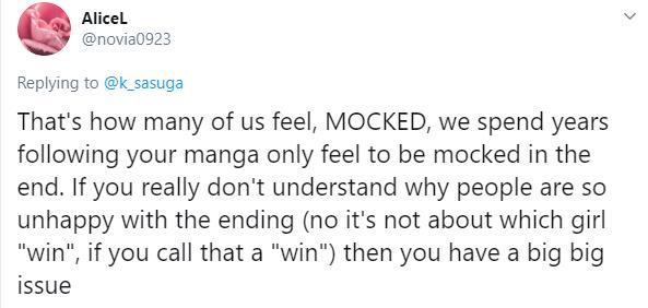 Viết cái kết quá tù mù, tác giả bộ manga harem Domestic na kanojo bị fan công kích dữ dội - Ảnh 3.