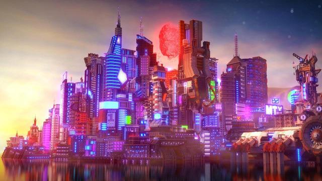 Khâm phục game thủ đã dựng cả thế giới Cyberpunk 2077 trong Minecraft - Ảnh 1.