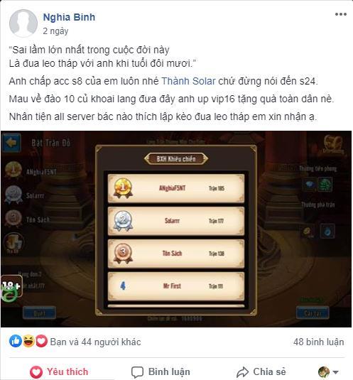 Siêu Vip ANghiaF5NT gây shock khi thách đấu toàn bộ game thủ Toàn Dân Tam Quốc - Ảnh 2.