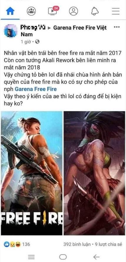 """Đến lượt game thủ """"Lửa Miễn Phí"""" đòi kiện Liên Minh Huyền Thoại vì nhái hình ảnh bản quyền của Free Fire - Ảnh 2."""