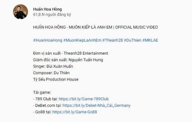 Giang hồ mạng Huấn Hoa Hồng ngang nhiên làm MV quảng cáo game đánh bạc: Có thể bị xử lý hình sự - Ảnh 4.