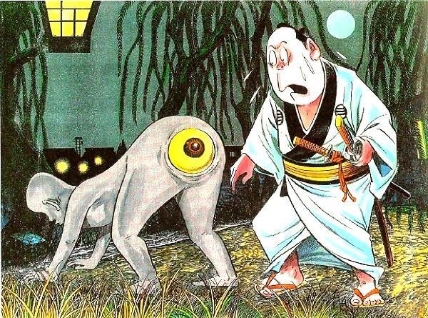 Những ma quỷ tấu hài trong thần thoại Nhật Bản: Lúc mắt mọc dưới mông, lúc lại cười không dứt - Ảnh 1.