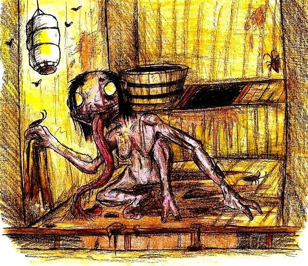 Những ma quỷ tấu hài trong thần thoại Nhật Bản: Lúc mắt mọc dưới mông, lúc lại cười không dứt - Ảnh 4.