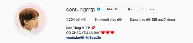 Sơn Tùng chính thức thành ông hoàng MXH với kỷ lục mới: 5 triệu follower cao nhất Việt Nam trên Instagram - Ảnh 1.