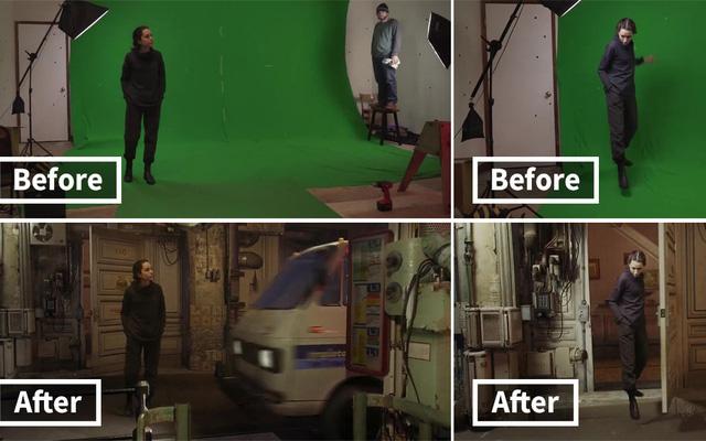 Chùm ảnh cho thấy sức mạnh khủng khiếp của phông xanh trong khâu hậu kì, giúp các nhà làm phim dễ dàng biến ra bất cứ thứ gì họ muốn
