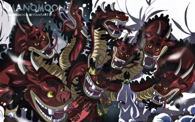 Hình ảnh mới nhất One Piece 985: Bị Kaido chém cụt đầu, trái ác quỷ liệu có giúp Orochi thoát chết? - Ảnh 2.
