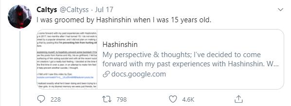 Super Top Hashinshin bị cấm vĩnh viễn khỏi Twitch vì cáo buộc quấy rối nữ game thủ 15 tuổi - Ảnh 3.