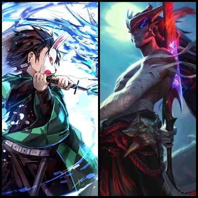 Đam mê Kimetsu No Yaiba, game thủ Liên Minh Huyền Thoại chế lại video ra mắt Yone theo phong cách Anime Nhật Bản - Ảnh 1.