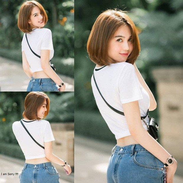 4 mẫu quần jeans quái dị của Ngọc Trinh: Cái rách toang hoác, cái vá chằng chịt, 1 trong số đó bị chê tơi tả - Ảnh 5.