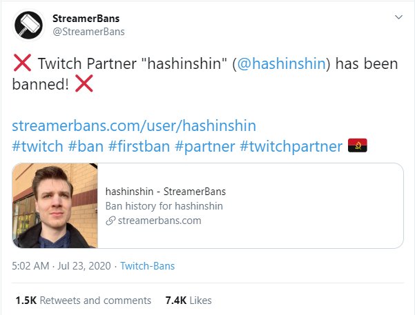 Super Top Hashinshin bị cấm vĩnh viễn khỏi Twitch vì cáo buộc quấy rối nữ game thủ 15 tuổi - Ảnh 1.