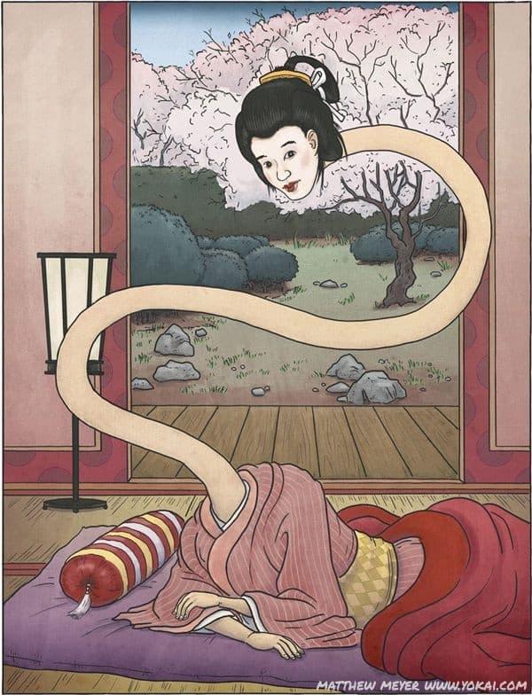 Rokuro Kubi: Ma nữ cổ dài ngoằng gây ám ảnh ở Nhật Bản - Ảnh 1.