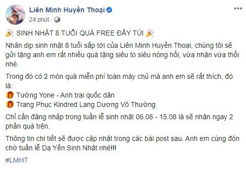 HOT: Garena tặng free tướng mới Yone và trang phục Kindred Lang Dương Vô Thường nhân dịp sinh nhật máy chủ LMHT Việt Nam - Ảnh 1.