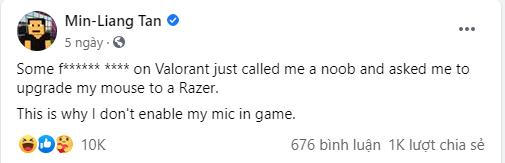 Vào quẩy Valorant. CEO của Razer bị sửu nhi khinh bỉ gọi là noob, khuyên mua chuột Razer về mà dùng để nâng trình - Ảnh 2.