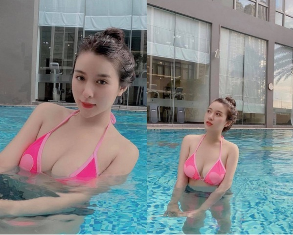 Hot girl Việt mới nổi diện bikini khoe body bốc lửa khiến dân mạng trầm trồ - Ảnh 2.