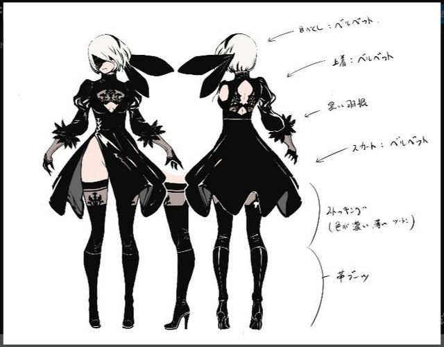 Hé lộ quá trình tạo ra 2B, nhân vật sexy bậc nhất thế giới game - Ảnh 3.