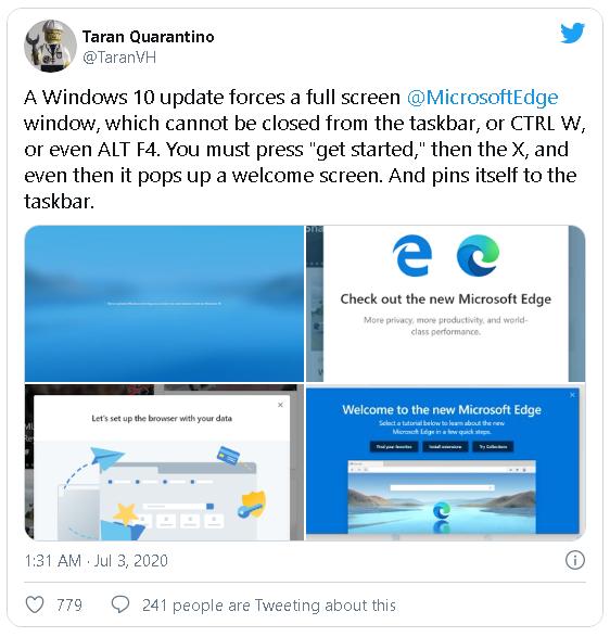 Người dùng tức điên với Microsoft, vì bị ép buộc cài đặt trình duyệt Edge thông qua cập nhật tự động của Windows 10 - Ảnh 2.