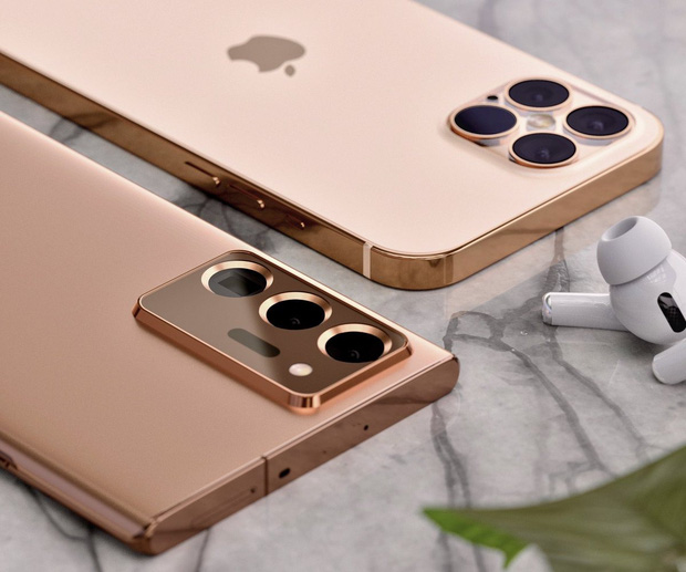 Lộ concept iPhone 12 và Samsung Galaxy Note 20 Ultra đẹp nhức nhối - Ảnh 3.