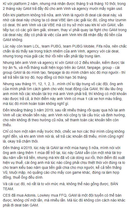 Quản lý GAM nợ lương tuyển thủ nhưng vẫn có tiền đi du lịch, mua xế hộp, HLV Yuna còn 1k trong túi vẫn không được trả tiền - Ảnh 6.