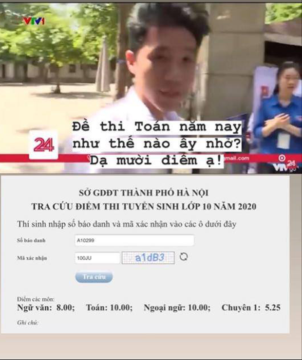 Nam sinh trả lời chắc nịch 10 điểm khi được VTV phỏng vấn thi vào lớp 10 thực chất được bao nhiêu điểm? - Ảnh 1.