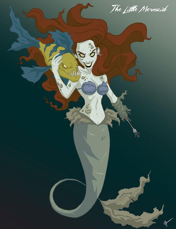 Không còn ngây thơ xinh đẹp, các nàng công chúa Disney hóa ác nhân trong loạt ảnh fanart kinh dị đầy ám ảnh - Ảnh 2.