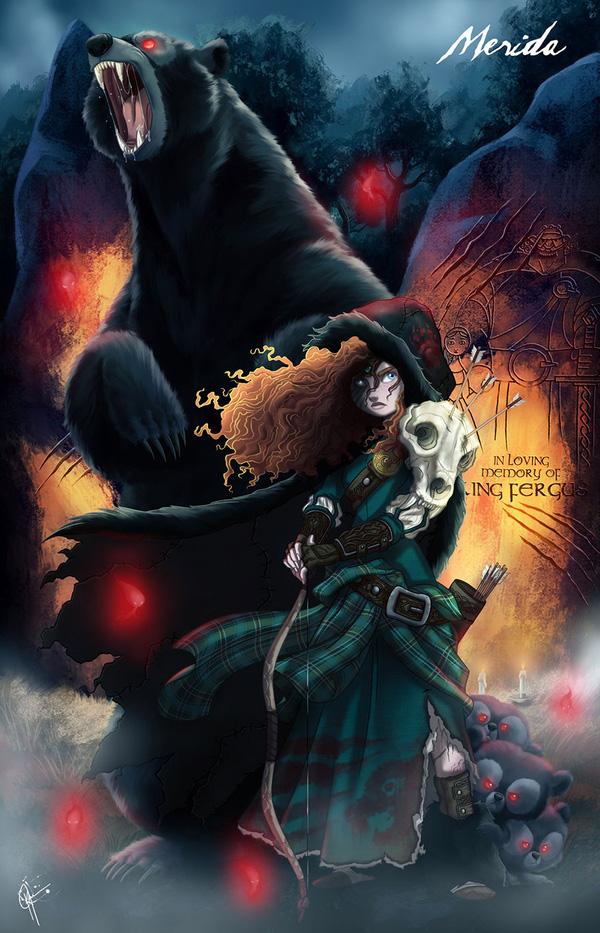 Không còn ngây thơ xinh đẹp, các nàng công chúa Disney hóa ác nhân trong loạt ảnh fanart kinh dị đầy ám ảnh - Ảnh 12.