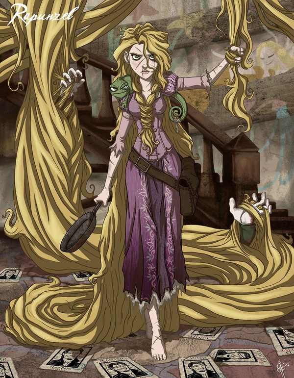 Không còn ngây thơ xinh đẹp, các nàng công chúa Disney hóa ác nhân trong loạt ảnh fanart kinh dị đầy ám ảnh - Ảnh 16.
