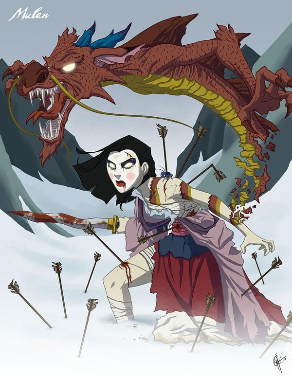 Không còn ngây thơ xinh đẹp, các nàng công chúa Disney hóa ác nhân trong loạt ảnh fanart kinh dị đầy ám ảnh - Ảnh 17.
