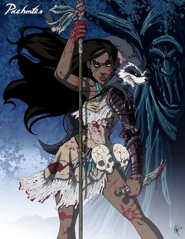 Không còn ngây thơ xinh đẹp, các nàng công chúa Disney hóa ác nhân trong loạt ảnh fanart kinh dị đầy ám ảnh - Ảnh 5.