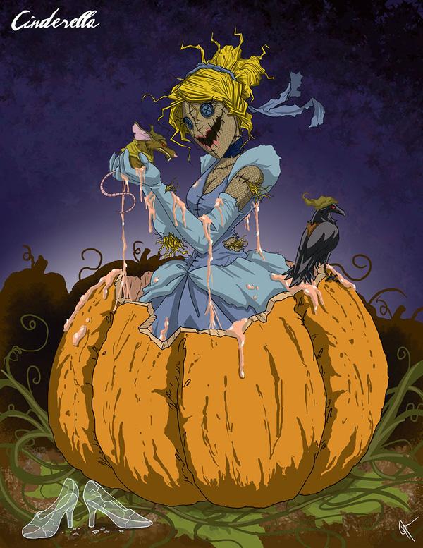 Không còn ngây thơ xinh đẹp, các nàng công chúa Disney hóa ác nhân trong loạt ảnh fanart kinh dị đầy ám ảnh - Ảnh 6.