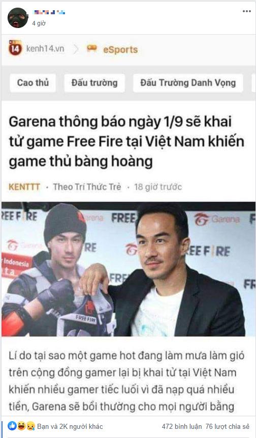 CĐM loan tin Free Fire sắp bị đóng cửa tại thị trường Việt Nam khiến hàng nghìn game thủ bàng hoàng - Ảnh 1.
