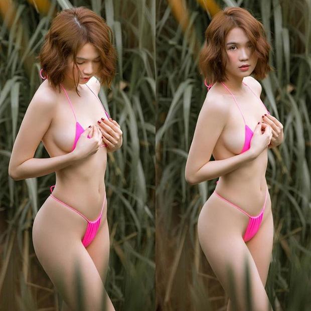 Toát mồ hôi hột khoảnh khắc gây lú của Ngọc Trinh: Diện bikini khoe body trên biển, nhìn không kỹ lại tưởng nude - Ảnh 4.