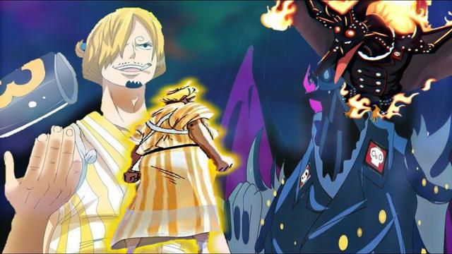 Sanji đang tạm thời bị King tấn công phủ đầu