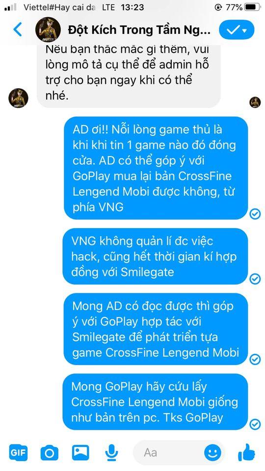 Chê bai VNG đóng cửa game vì hack quá nhiều, người chơi gửi tin nhắn cầu cứu VTC để phát hành lại - Ảnh 2.