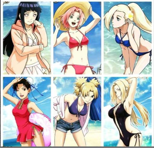 Không được đi tắm biển thì ngồi nhà ngắm dàn mỹ nhân trong Naruto diện bikini cũng đủ sướng con mắt - Ảnh 1.