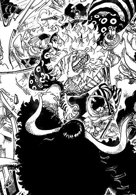 One Piece 986: 9 người cùng nhảy vào đánh, tại sao chỉ có Nekomamushi tóc vàng là bị Kaido túm đầu? - Ảnh 2.