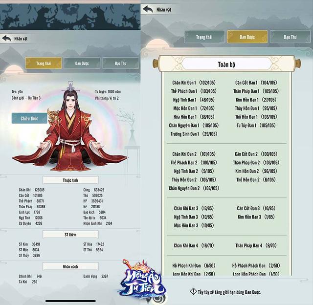 Đem đến nhiều chỉ số đặc biệt, Mộng Ảo Tu Tiên cho phép người chơi thỏa sức biến hóa nhân vật theo cách riêng nhất - Ảnh 1.