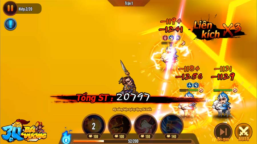 Trải nghiệm 3Q Bá Vương: Diện mạo mới đầy ấn tượng của dòng game thẻ tướng chiến thuật