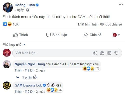 Nội tại Pelu cũng không thể ngăn cản GAM Esports phục hận thành công Team Flash