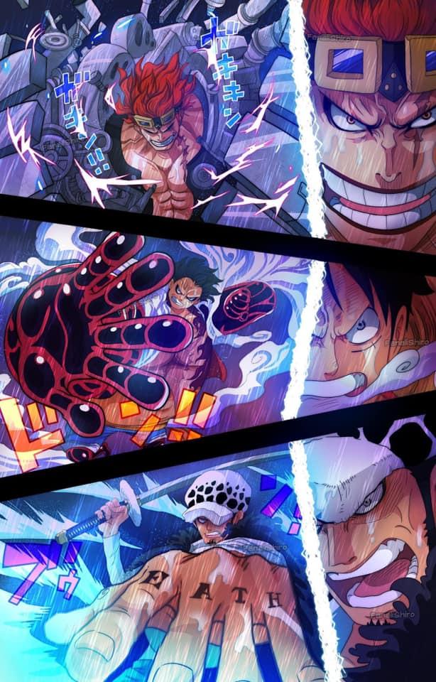 Bộ ba Luffy - Law – Kid được in biển quảng cáo cực lớn để quảng bá cho sản phẩm mới ra của One Piece - Ảnh 2.