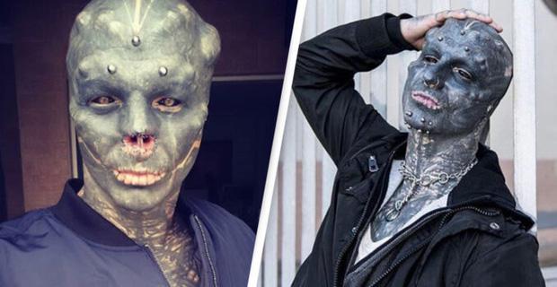 Đẹp trai không muốn, anh chàng quyết tâm phẫu thuật mặt, cắt mũi xẻ lưỡi cho giống người ngoài hành tinh nhất có thể - Ảnh 1.