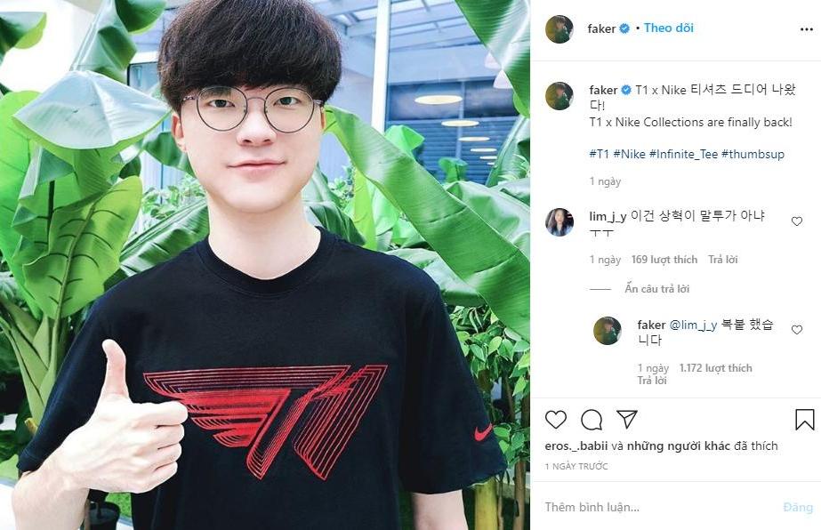 """Ngay bài đăng thứ 3 trên Instagram, Faker đã làm """"náo loạn fan nữ"""" chỉ vì hành động này"""