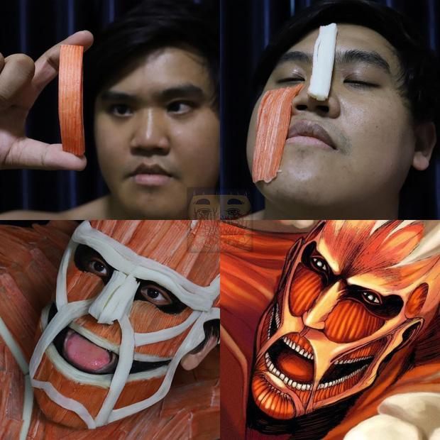 """Chỉ bằng vài nguyên liệu đồ ăn đơn giản, """"thánh cosplay"""" Thái Lan khiến cả thế giới chắp tay bái phục khi biến hình thành vạn vật trên đời - Ảnh 10."""