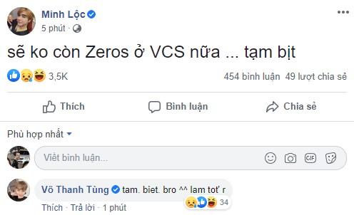 Thất bại trong cuộc đua vô địch, Zeros tuyên bố chia tay giải đấu VCS? - Ảnh 2.