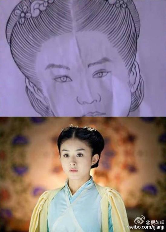 Cười ngoác mồm với tranh chân dung của mỹ nam mỹ nữ trong phim cổ trang Trung Quốc - Ảnh 9.