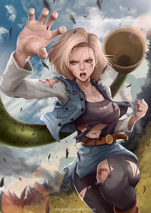 Dragon Ball: Androi 18 khoe trọn đường cong nóng bỏng qua loạt fan art đẹp mê ly - Ảnh 10.